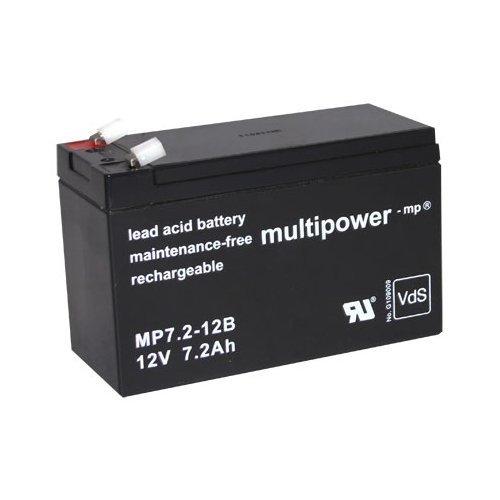 Original Multipower Bleigel Akku AGM-Technik für Treppenlift Sitzlift Flow 1 + 2 Minivator 950 Minivator 1000 Minivator 2000 bgl. SBB Sunbright 6-FM-7 SP12-7.2 ES7.2-12 SPT12-7.2 6FM7.2 NP7.2-12 SR GB12-7.2 1272 für Elektro Kinderauto MERCEDES GL63 AMG Lead Acid Battery Accu Batterie Battery Bateria