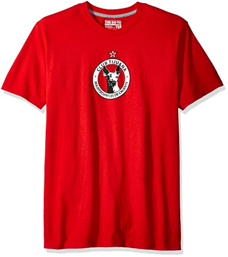 fan products of MLS Club Tijuana Men's Team Crest Short Performance Tee, Large, Red