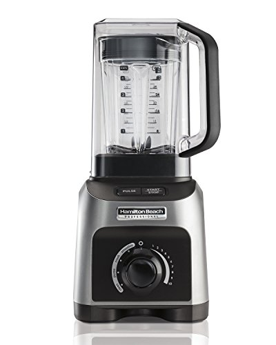 Hamilton Beach Professional 1500W Quiet Shield Blender with 32 oz BPA-free Jar & 4 Programs, Silver (58870) (Shield Quiet)