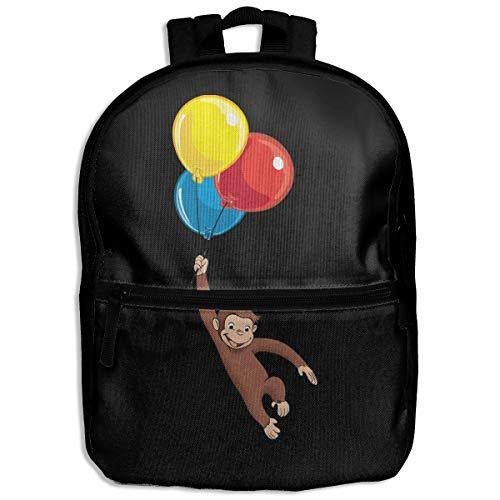 Kids Backpack Curious George School Hiking Travel Shoulder Bag Mini Daypack For Boys Girls