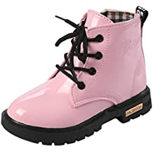 PPXID Boy's Girl's Waterproof Short Boots Lace-Up Ankle Boots(Baby/Toddler/Little Kid/Big Kid)