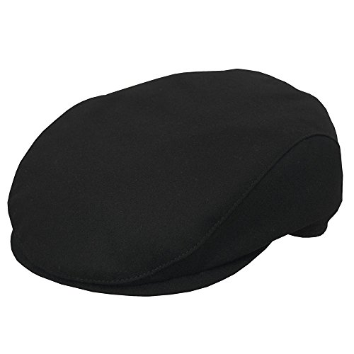 Wigens Earth Wind and Fire Slim Ivy Cap-Black-59