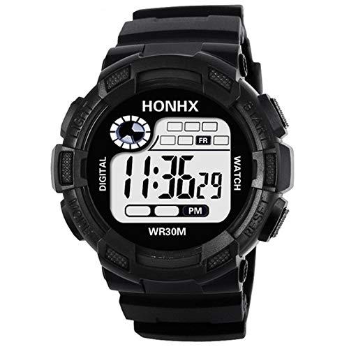 para HONHX Relojes Inteligentes de Deportes Digitales Impermeables para Hombres con luz LED