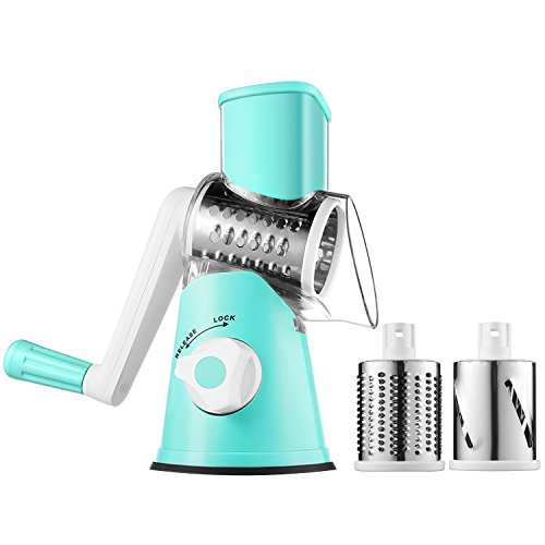 Rotary Mandoline Slicer Cheese Grater Round Drum Veggie Slicer Vegetable Carrot Potato Shredder Nut (Rotary Slicer)