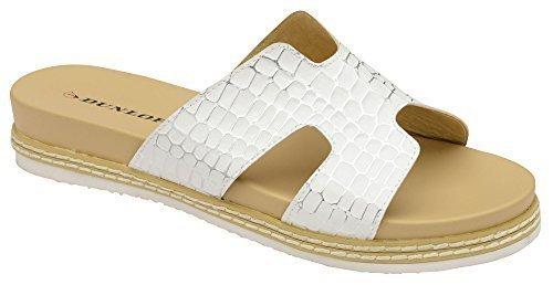 Foam Blanco Cocodrilo Casual Confort Zapatos Mujer Sandalia Sin Dunlop Memorey Cordones qRZwE