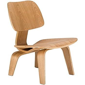 Amazon Modway Fathom Plywood Lounge Chair in Walnut Kitchen