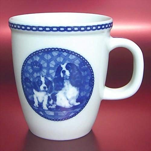 Cavalier King Charles - Porcelain Mug made in Denmark Premium Quality and Design from Lekven. Perfect Gift For all Dog Lovers. Size - 4.2 inches.