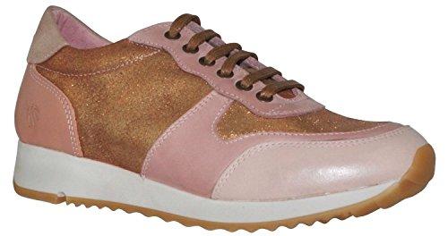 JJ Footwear Damen Schuh Leder Bermuda Normal Nude/Kupfer N.Capri/Nub/Brillo/Suede 42