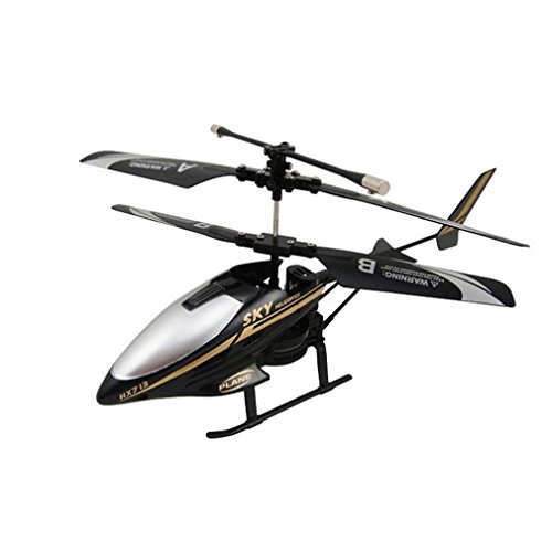 Dacawin RC HX713 2.5CH Mini Remote Control RC Helicopter Radio Aircraft Drone Quadcopter (black)