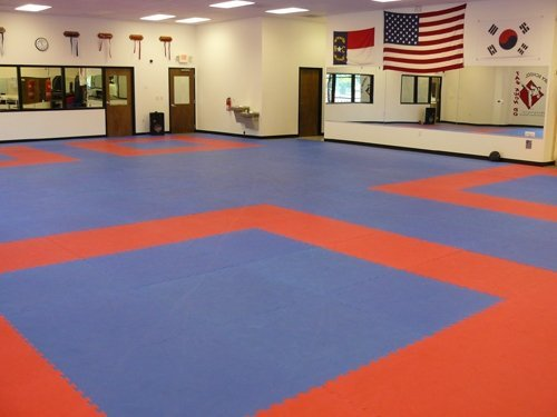 "We Sell Mats Black JUMBO 89 SQ FT 40""x40"" Extra Thick 8 Tiles + borders Martial Arts, Exercise & fitness anti-fatigue interlocking EVA Foam Flooring PX90, Insanity, Pilates, Yoga, trade shows"