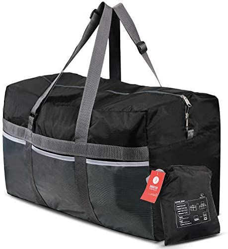 Water Resistant Travel Duffle Bag Foldable for Men Women REDCAMP 96L Extra Large Duffle Bag Lightweight Wine Red