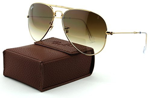 Ray-Ban RB3479 Aviator Folding Metal Unisex Aviator Sunglasses (Arista Frame/Crystal Brown Gradient Lens 001/51, - Ray Folding Ban Case