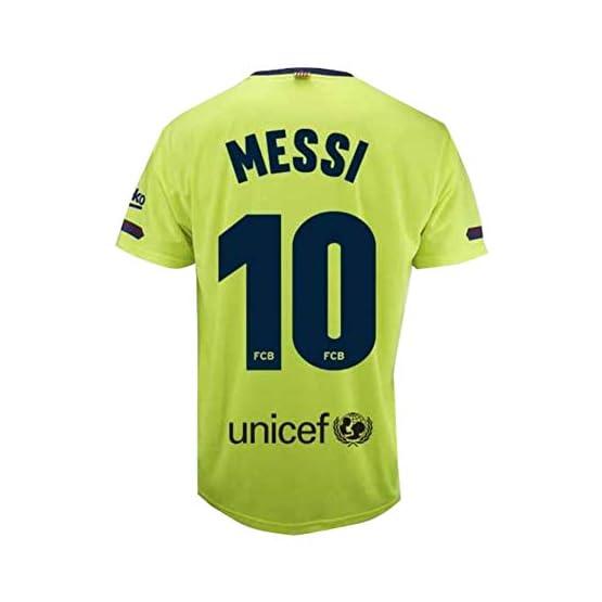 Maillot 2e équipe FC.Barcelona 2018-2019 - Réplique Officielle Autorisé - Crête 10 Messi - Adulte Taille XXL - Mesure Poitrine 63 -Longueur Totale 77 -Manche L 23 cm.