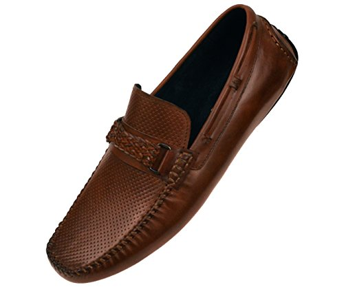 fast delivery sale online outlet store Locations Asher Green Men's Loafers Genuine Leather & Suede Driving Shoes Brown/Leather-braded-bit Ncg7Zfj1