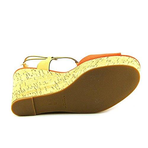 Coach Womens Sandalo Con Zeppa (papaya / Natural, 8.5) [scarpe]
