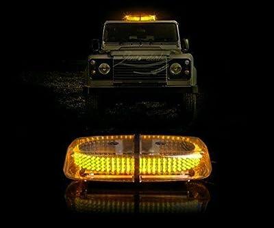 Zento Deals New Bright Amber 240-LED Strobe Light Warning Emergency Flashing Car Truck Construction Car Vehicle Safety w/ Magnetic Base