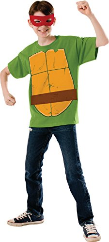 Teenage Mutant Ninja Turtle Child's Raphael Costume Top and Eye Mask, Medium