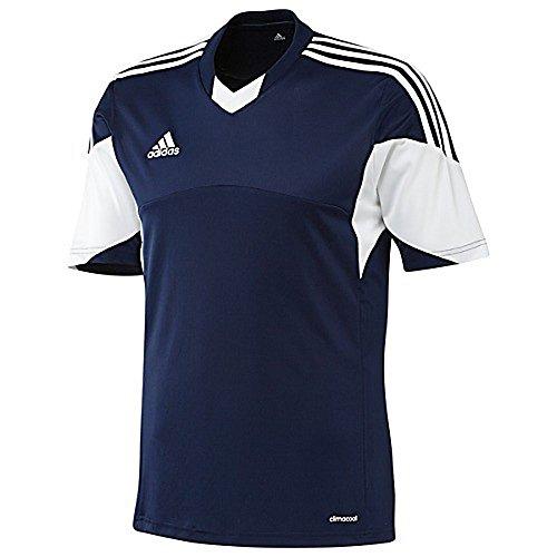 Adidas Mens Climacool Tiro 13 Short Sleeve Jersey Medium Navy/White For Sale