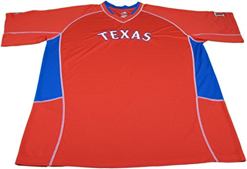 Major League Genuine Merchandise Mens Size X-Large Texas Ranger Jersey, Red (Jersey Genuine Merchandise)