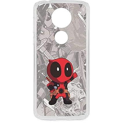 new arrival eab02 39711 Amazon.com: Skinit Deadpool Hello Moto E5 Plus Clear Case - Marvel ...