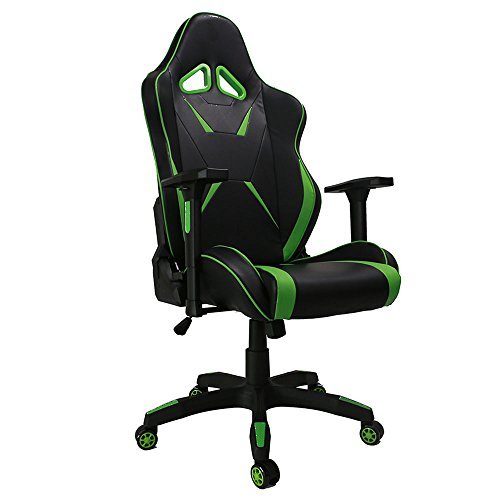 41Oe9nL8aAL - Kinsal-Gaming-Chair-Green-Large-Size-Big-and-Tall-Racing-Chair-Ergonomic-Computer-Chair-Leather-Swivel-Office-Executive-Chair-Including-Headrest-and-Lumbar-Support-Green