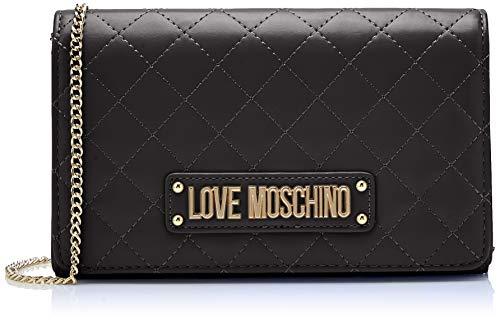 Love Moschino Matelassé Nappa Pu, Pochette de jour pour femme, 15x10x15 Cm (l X H H) Noir (noir)