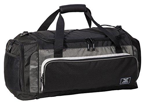 MIER Large Duffel Bag Men's Gym Bag with Shoe Compartment, 60L, Black by MIER