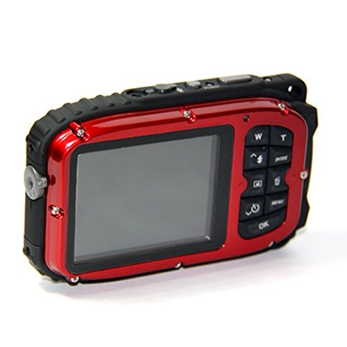 Waterproof camera,Bigaint BG003 16MP 8x Zoom Cameras 2.7 Inch LCD Digital Camera 10m Underwater Waterproof Camera --Red