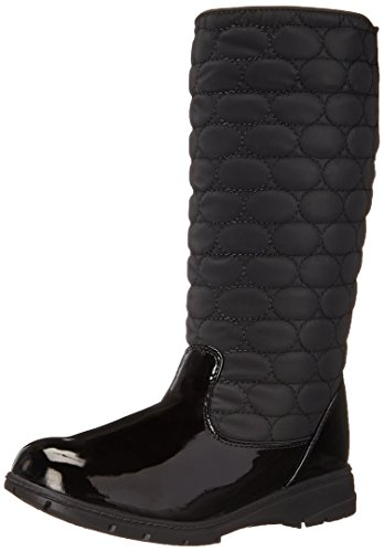 (Soft Style by Hush Puppies Women's Paris Boot, Black Vylon/Patent, 6.5 M US)