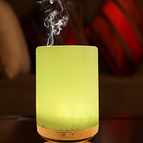 200ML Essential Oil Diffuser -Glowseen Aromatherapy Ultrasonic Cool Mist Humidifier with Colorful LED light Auto Shut-Off for Spa ,Home ,Kitchen and Office by GS GLOWSEEN (Image #4)