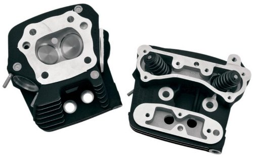 S&S Cycle Black Powdercoat Cylinder Heads for EVO Style Motors (Motor Cylinder Head)