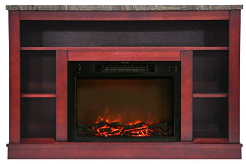 """Cambridge Seville Electric Fireplace for Most Flat-Panel TVs Up to 50"""" Cherry CAM5021-1CHR"""