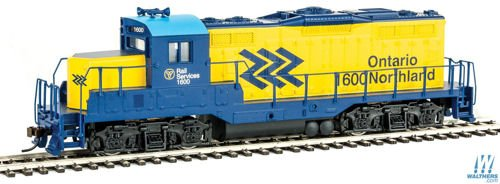 Walthers Trainline HO Scale Model HO Scale Model EMD GP9M Standard DC Ontario Northland #1600