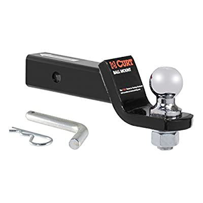 """CURT 45036 Class III 2"""" Loaded Ball Mount with 2"""" Ball"""