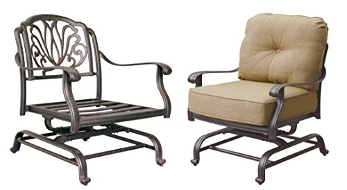 Darlee Elisabeth Cast Aluminum Spring Base Club Chair with Seat and Back (Cast Aluminum Club Chair)