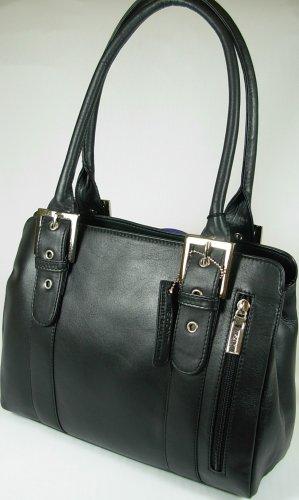 New Black 18746 Shoulder Leather Visconti Ladies Handbag EqBrPEx