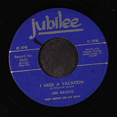 JIM BACKUS - delicious! / i need a vacation - Amazon.com Music