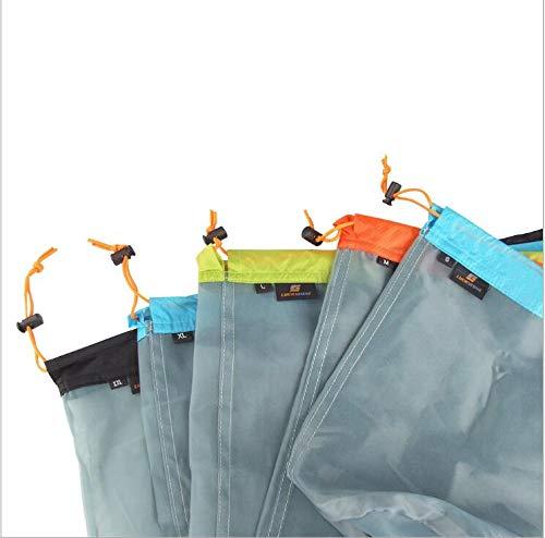 - Ultra Stuff Sacks Nylon Mesh Drawstring Storage Bag for Camping Travel Hiking Outdoor Sports (Set of 5)