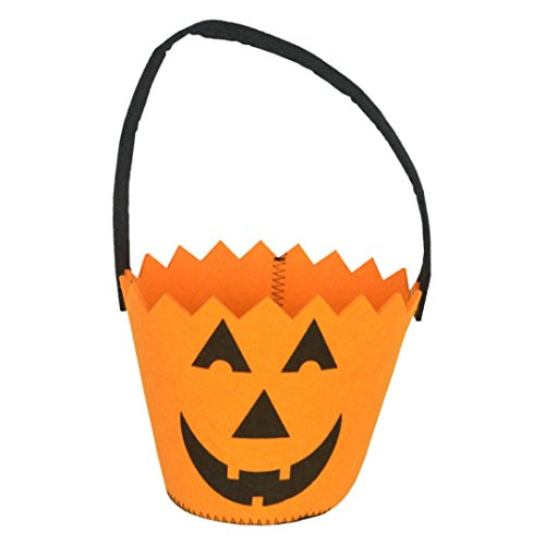 Elevin(TM) Children Kids Halloween Pumpkin Bag Candy Bucket Handbag Trick or Treat Bag (10X13cm)