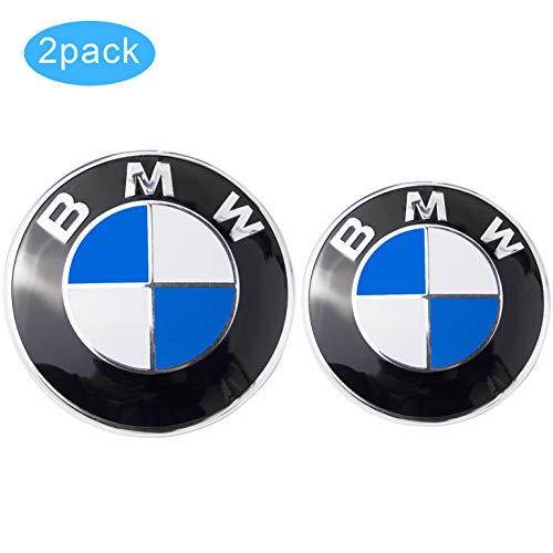 BMW Logo, BMW Emblem Replacement for BMW Hood or Trunk E30 E36 E34 E60 E65 E38 X3 X5 X6, 3-Series, 5-Series, 6-Series, 7-Series etc (82MM & 73MM)