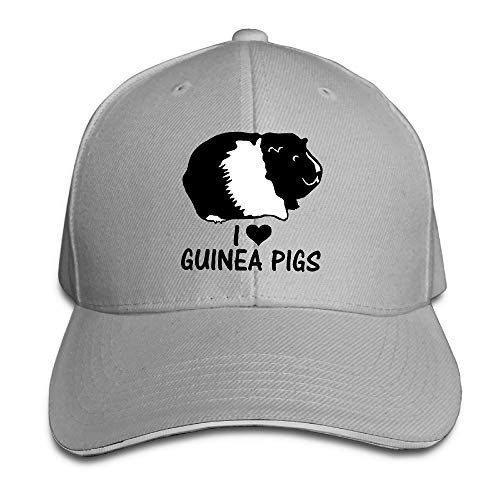 I Love Guinea Pigs Adjustable Baseball Hat Dad Hats Trucker Hat Sandwich Visor Cap