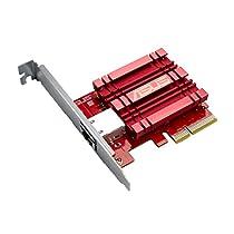 ASUS XG-C100C - Adaptador de red 10 Gigabit PCI Express (QoS integrado, RJ-45, compatible con Windows 10 y Linux)