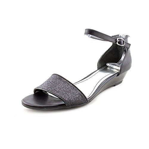 Style & Co. Women's Sandra Ankle Strap Sandals in Black Glitter Size 7.5