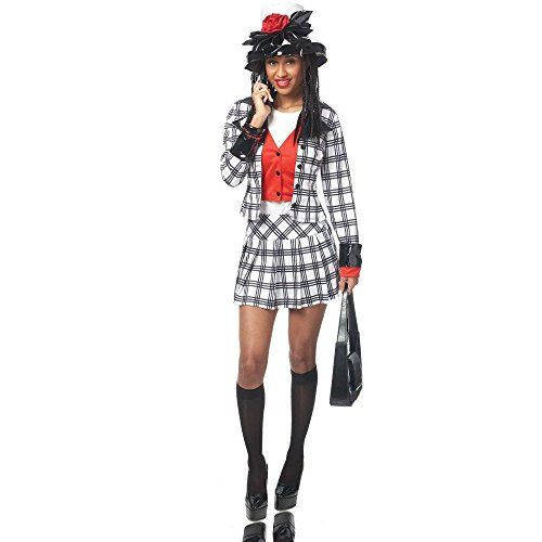 Adult Stacie Notionless BFF Costume, Large, Black/White (Bff Halloween Costume)