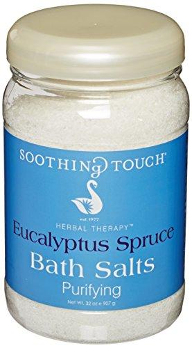 - Soothing Touch W67369ES32 Bath Salts Eucalyptus Spruce, 32-Ounce