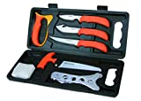 Outdoor Edge WildPak, WP-2, Field Processing Butcher Knife Kit for Big Game Hunting (8 Piece)