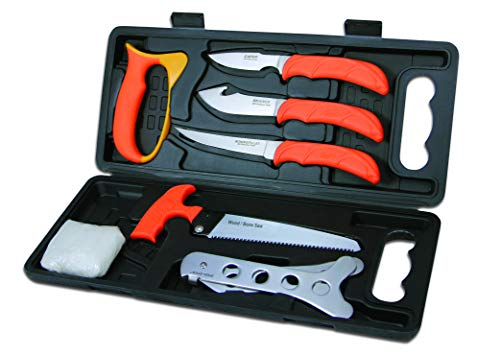 - Outdoor Edge WildPak, WP-2, Field Processing Butcher Knife Kit for Big Game Hunting (8 Piece)