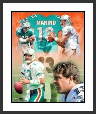- Dan Marino Framed 8x10 Photo - Miami Dolphins Legends Collage