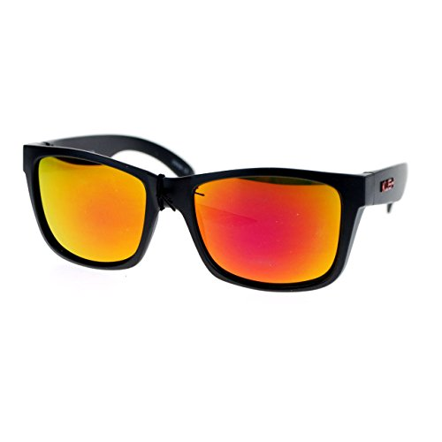 KUSH Black Matte Frame Square Unisex Sunglasses Multicolor Lens