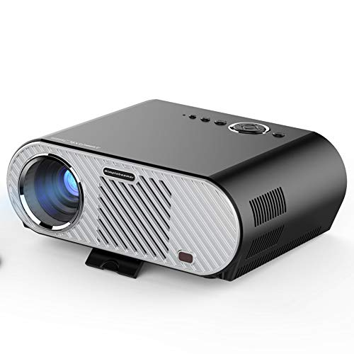 ZXYWW HD Projector, Home Cinema Full HD 1080p Lumens Home Theater Projector 30,000H LED Compatible with Fire TV Stick, PS4, HDMI, VGA, AV and USB from ZXYWW